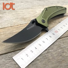 LDT Small Pig Folding Knife 8Cr13Mov Aluminum Handle Hunting Survival Outdoor Knives Pocket Utility Tactiacl Knife EDC Tools(China)