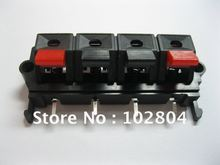 150 pcs 58mmx20mm 4pin Red and Black Spring Push Type Speaker Terminal Board Connector WP4-19(China)