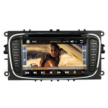 "7"" Double 2 Din Car DVD Player GPS Navigation in Dash Car Autoradio PC Stereo Head Unit for Ford Focus+Free Map +Free Card"
