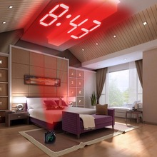 LCD Projection Clock Electronic Table Desk Nixie Digital Clock Radio Projector Watch Talking Alarm Clock With Time Projection