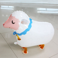 Cartoon Cute Little Sheep Walking Pet Balloon Kids Toy Gift Birthday Party Baby Shower Room Decoration Classic Foil Balloons
