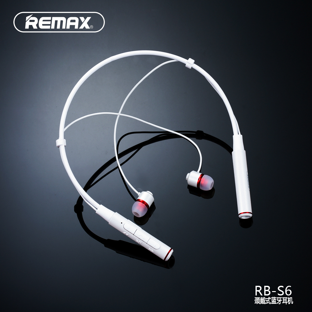 REMAX NECKBAND Running Wireless Bluetooth V4.1 Sport Earphone Headset HD Voice Call Remind Magnetic Earbuds 105dB Li-polymer<br>