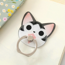 Cute Cartoon Finger Ring Holder Universal Bear Cat Mobile Phone 3D Metal Stander Finger Grip for iPhone Samsung Xiaomi