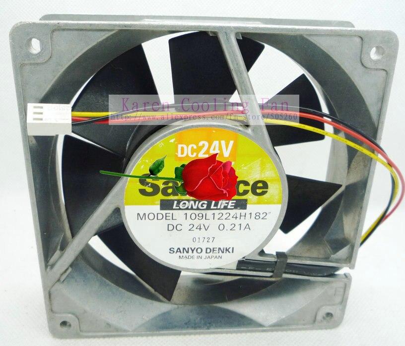 SANYO 12cm 109L1224H182  Aluminum frame 12038 24V 0.21A  Cooling Fan<br>