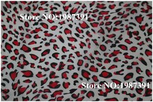 150cm width printed red leopard print  soft chiffon fabric for summer  scarf and headband CH-S5193