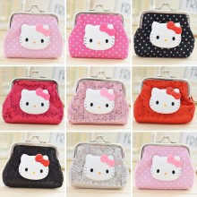 Fashion Hello Kitty Coin Purse  Cartoon Cute Small Wallet Sequin Coin Bag For Kid Gift Bolsas