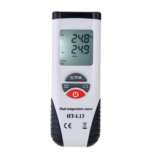 Professional LCD Display Thermometer Dual Channel Thermometer with K-Type Thermocouple Sensor Temperature Meter Diagnostic-tool(China)