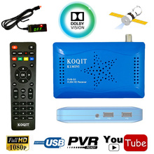 FTA Full HD/SD 1080P DVB-S DVB-S2 Digital Satellite Receiver Support Dolby AC3 USB Host IKS Cccam Newcam Biss key Youtube Wifi(China)