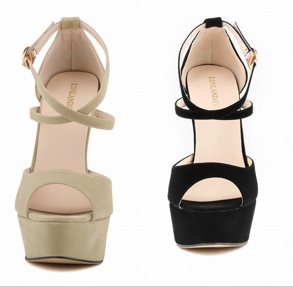 Platform Sandals 2016 New Style Leisure Women High Heels Girls Fashion Casual Summer Cover Heel Sandal Shoes SMYNLK-CA0001<br><br>Aliexpress