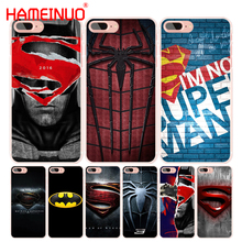 HAMEINUO Super Hero Spider Man And Captain America cell phone Cover case for iphone 4 4s 5 5s SE 5c 6 6s 7 8 X plus(China)