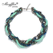 Buy Fashion Jewelry Vintage Beads Braid Rope Twist Choker Necklace Women Statement Necklaces & Pendants bijoux collares 2017 for $6.56 in AliExpress store