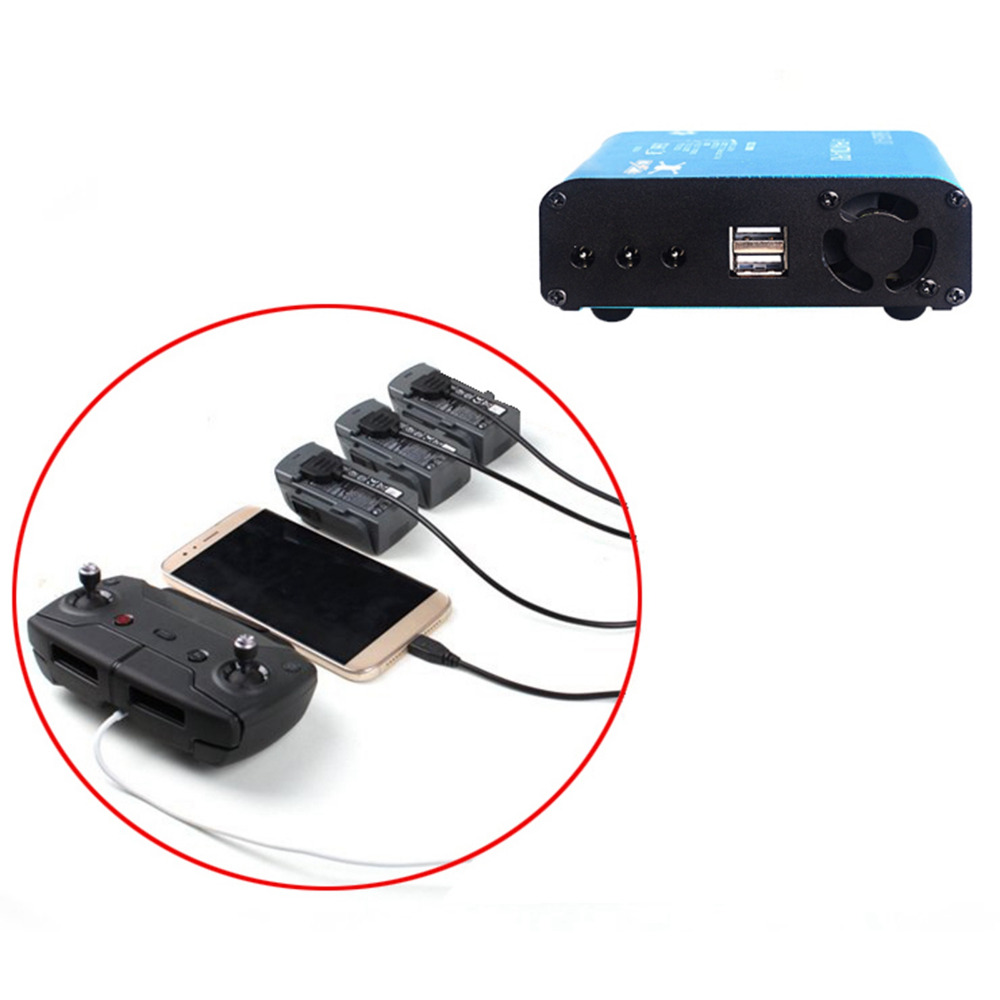 5 in1 Intelligent Charging HUB For DJI Spark Battery Controller Smart Phone Fast Charger For DJI Spark Drone Accessories