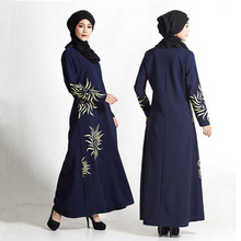 Top sale muslim abaya islamic clothing for women print pattern muslim dress long sleeve abaya turkish HSZ011(China)