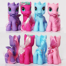 4pcs/lot Plastic Horses Hollow 9cm Anime Animals Figure Set Figurine Pvc Action Figures Kids Toys