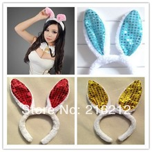 New KAWAII women girl Bunny Rabbit Fluffy sexy Ear Headbands Plush Head Band Costume Festive Party Decorative Performing props