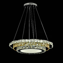 Hot Selling Crystal Diamond Ring LED Crystal Chandelier Light Modern Crystal Pendant Lamp Circles different size position