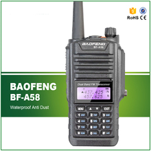 Original Baofeng BF-A58 Waterproof IP-57 Dual Display 136-174/400-520MHZ Ham Transceiver with Headset