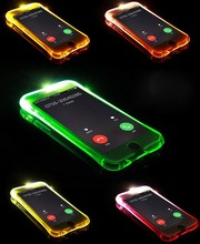 TPU+PC LED Flash Light Up New Cheap Case Remind Incoming Call Cover For Samsung Galaxy J1 J5 J7 A3 A5 A7 2016 Note 4 5 S6 S7 A9