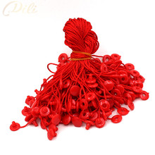 100pcs 7'' red hang tag string quanlity garment hang tag string cord for garment price tag seal tag
