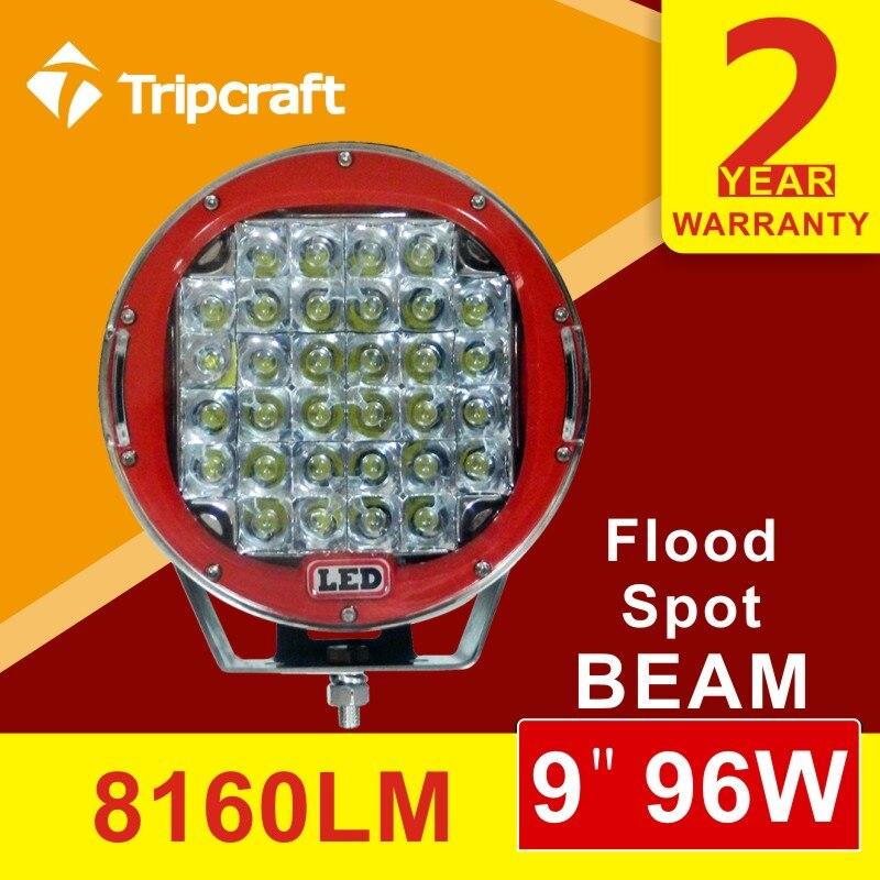 9inch 96W LED Work Light Tractor Truck 12v 24v spot Offroad LED Drive light LED Worklight External Light seckill 111W 160W 185W <br><br>Aliexpress
