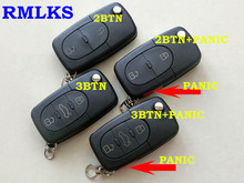 RMLKS Remote Key Shell Fit For Audi A4 A6 A8 S4 S6 S8 Cabriolet allroad TT Uncut Case Fob Uncut HU66 Blade