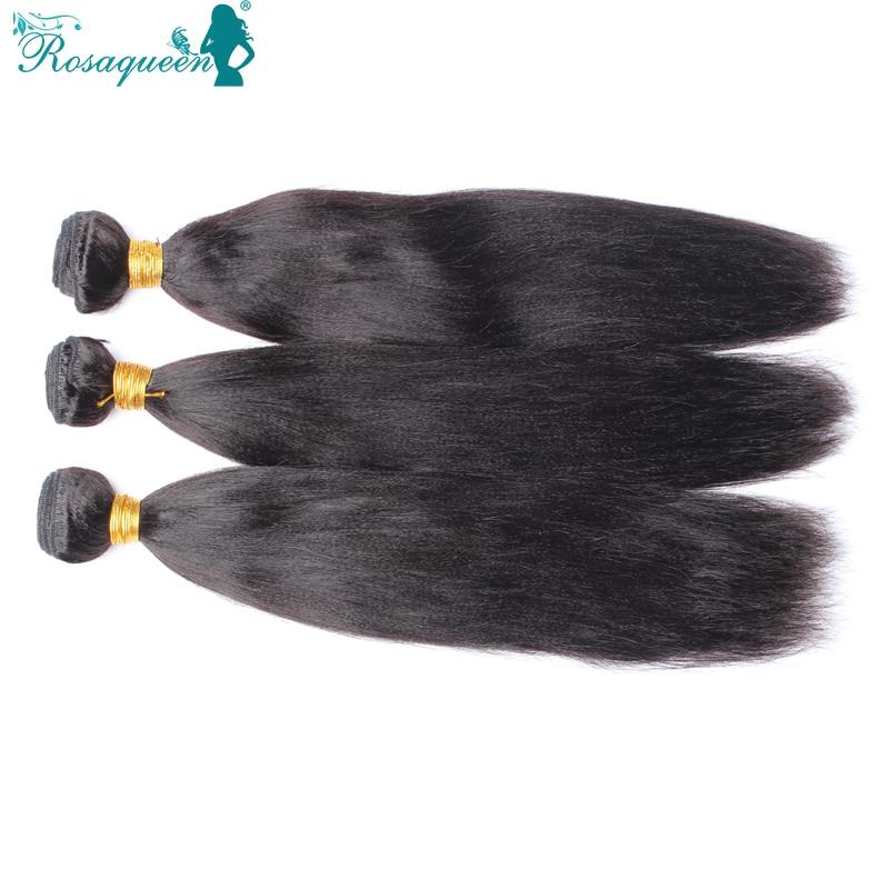 6A Peruvian Virgin Hair Straight Italian Yaki 10-30 Human Hair Weaves Light Yaki Virgin Hair Extention Rosa Hair Products<br><br>Aliexpress