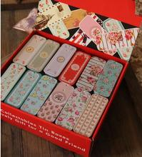 48pcs/lot Slide Cover Mini Tin Box Gift Tin Case Rectangle Shape Pill Box Jewelry Case Mini Decoration Box Gift Case