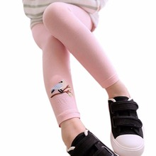 6 Colors Lovely Baby Kids Girls Cotton Pants Embroidery Bird Warm Stretchy Leggings Trousers(China)