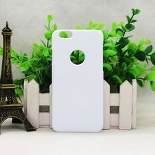 New 3D case with Logo hole for iPhone 6s sublimation for iphone 6s 3d white cover blank heat transfer cover 200pcs/Lot