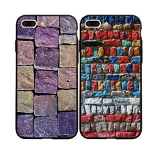 Fashion Retro Brick Image Covers For iPhone 5s 5 6s 6Plus Coque For iPhone 7 7Plus Soft TPU&Hard PC Back Phone Cases Capa Fundas