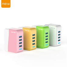 MEIYI MY501 5V 4A Max(Real) Universal Travel USB Charger Adapter US EU Plug 4 Port Wall Charger for iPhone for Samsung Tablet(China)