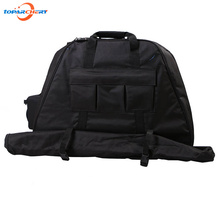 A Triangle Compound Bow Bag for Outdoor Hunting Shooting Accessories Archery Bow Case Deluxe Black Canvas Bow Arrow Portable Bag