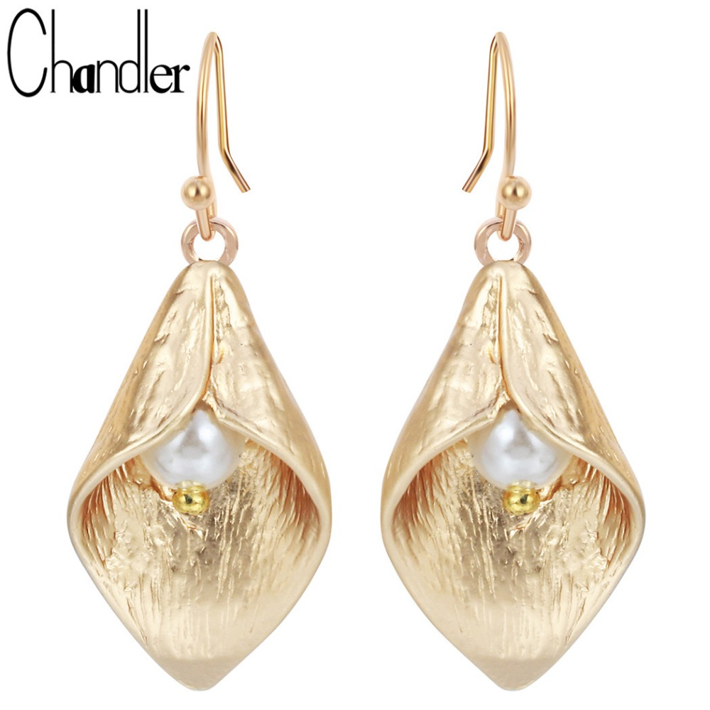 Long Petunia Lily Flower Drop Earrings For Women Girls Jewelry Earring Female Models Wedding Bridal Bridemaid Gifts Accessaries