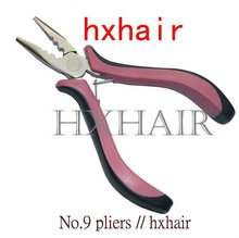 No.9 1pcs Pink Handle Straight Head with Teeth and Holes /Hair Extension Pliers /Hair Extension Tools(China)