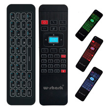 W-shark Multifunction Remote Control Wireless Keyboard With Backlit MP3 Air Mouse Backlight For Smart Set-top Box
