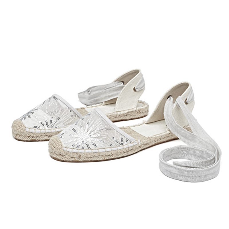 Canvas Summer Women's Espadrille Sandals Flats Ankle Strap Hemp Bottom Fisherman Women Shoes For 2018 SpringAutumn Women Loafer (22)
