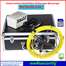30m CCTV Pipe Inspection Video Camera System Underwater Well Video Inspection Camera,8GB SD Card Recording DVR