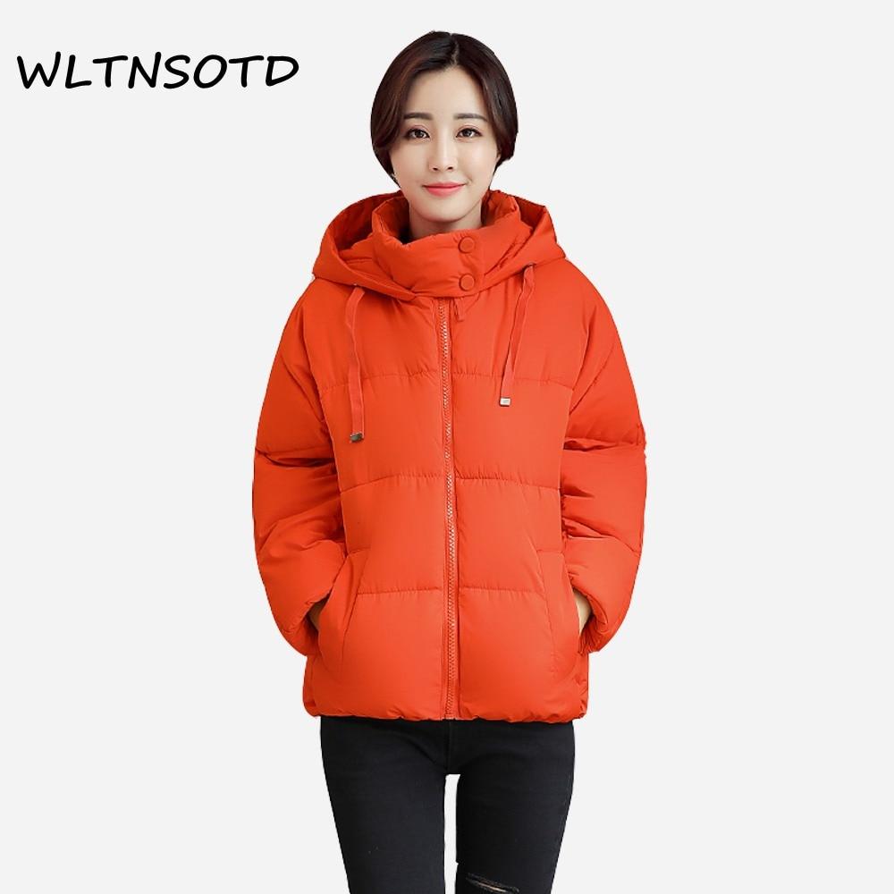 2017 Sale Full Zipper Slim New Winter Cotton Coat Women Loose Casual Hooded Bat Sleeves Jacket Female Fashion Warm Solid Parkas Îäåæäà è àêñåññóàðû<br><br>