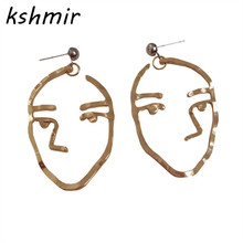 Earrings style restoring ancient ways design color, gold and silver earrings stud earrings strange interesting ear clip female(China)
