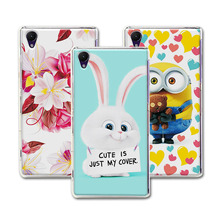 Cute Cartoon Hard PC Case Coque For Sony Xperia Z2 L50 D6503 D6502 Colorful Mermaid Xperia Z2 Cover Funda For Sony Z2 Capa