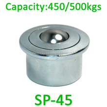 SP45 500kg capacity Heavy Duty Ball transfer unit SP-45 air cargo type conveyor roller assembly table platform bearing caster(China)