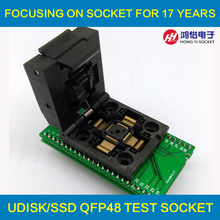 QFP48 TQFP48 LQFP48 to DIP48 MCU Programmer Pitch 0.5mm IC Body Size 7x7mm IC51-0484-806 Test Socket Adapter