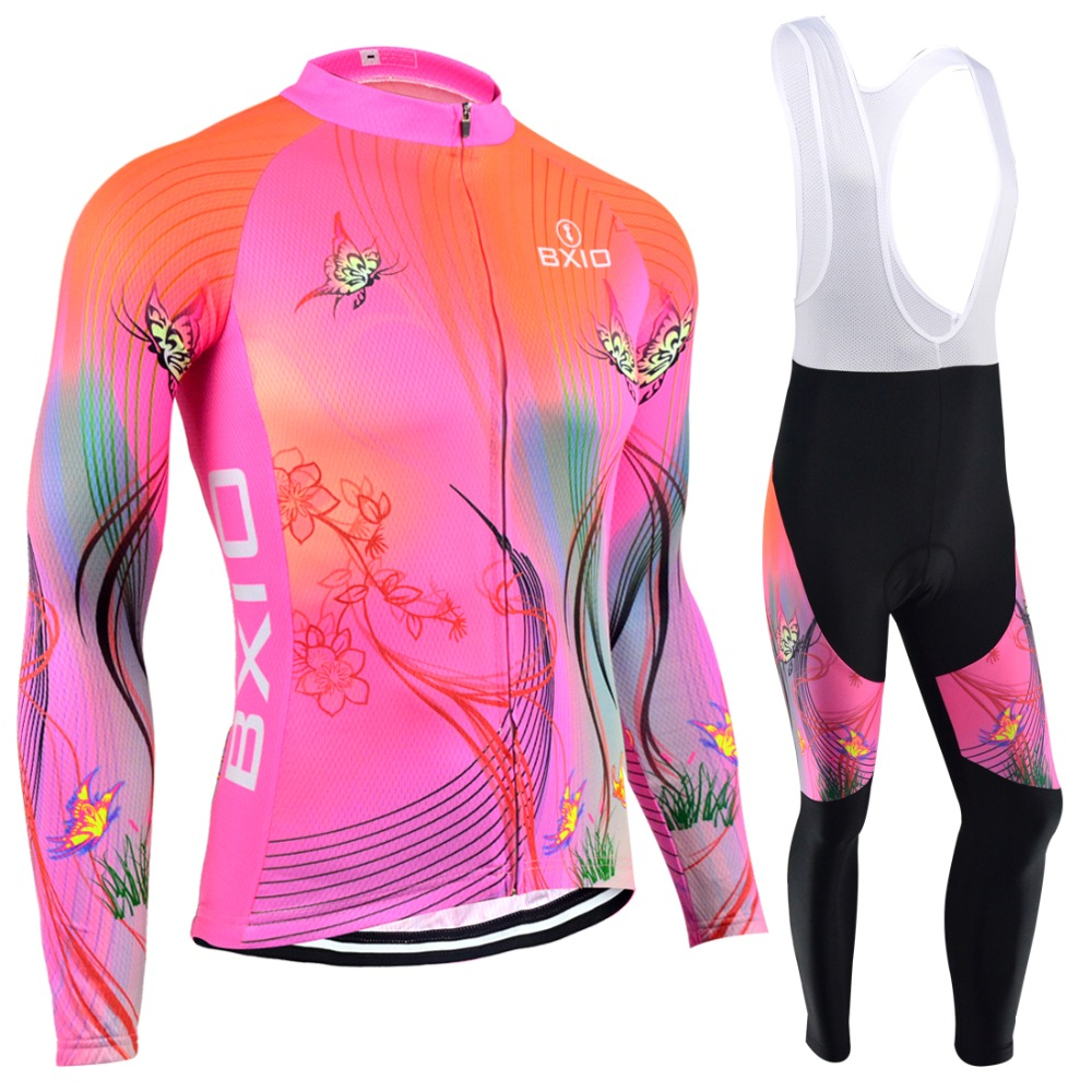 BXIO Women Winter Thermal Fleece Cycling Jerseys 5D Gel Pad Bike Clothes Warm Long Sleeves Bicycle Clothing Maillot Ciclismo 120<br><br>Aliexpress