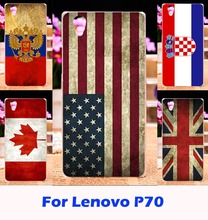Custom National Flag Phone Cases For Lenovo P70 P70A P70-A P70T P 70 5.0 inch Hard Plastic Housing Bag Cover Back Fundas Carcasa