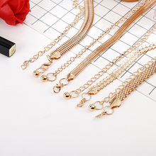 Women New Creative Fashion Leisure Metal Waist Chain Ladies Modern Decorative Alloy Narrow Waistband Belts