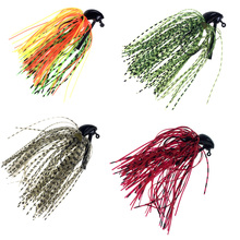 THKFISH Bass Fishing Jigs 5 Pcs/Pack 7g 10g Mix Color Rubber Skirt Lure Swim Buzz Metal Lead Jig Head Hooks Bass Fishing Lures(China)