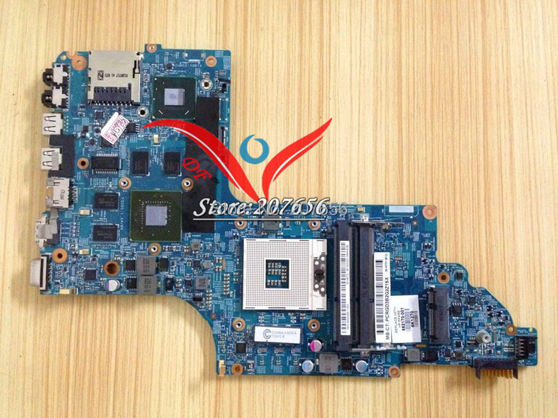 LAPTOP MOTHERBOARD for HP PAVILION DV6-7000 682170-001 HM77 SLJ8C 48.4ST10.031 GT 630M 2GB<br><br>Aliexpress