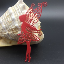 METAL CUTTING DIES Butterfly fairy angle Wing girl Scrapbooking album paper craft home decorative EMBOSSING CRAFT DIES(China)
