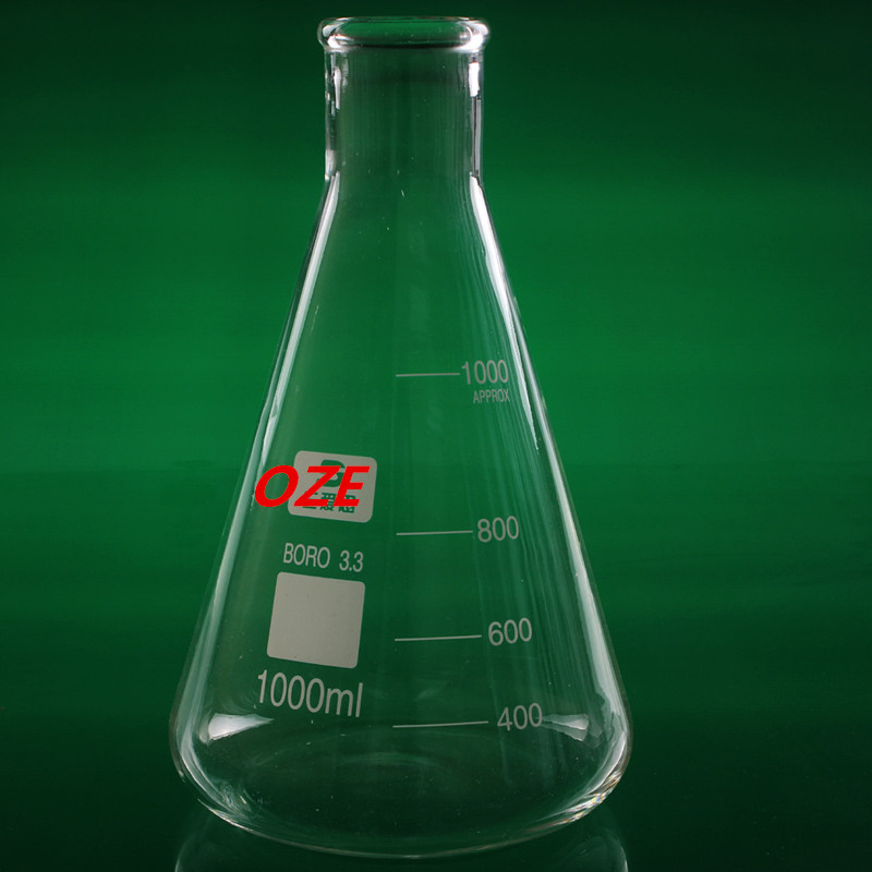 1PCS 1000ML Narrow Neck Borosilicate Glass Conical Erlenmeyer Flask For Laboratory <br>