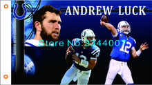 Indianapolis Colts 12 NFL 3x5ft 150 x 90 cm 100D poliester ,free shipping(China)